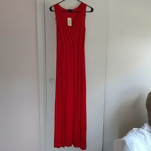 Forever 21 Red Maxi Dress with Side Slit